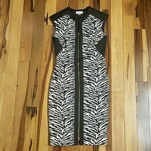 🌟🆕NWOT Calvin Klein Zebra Dress